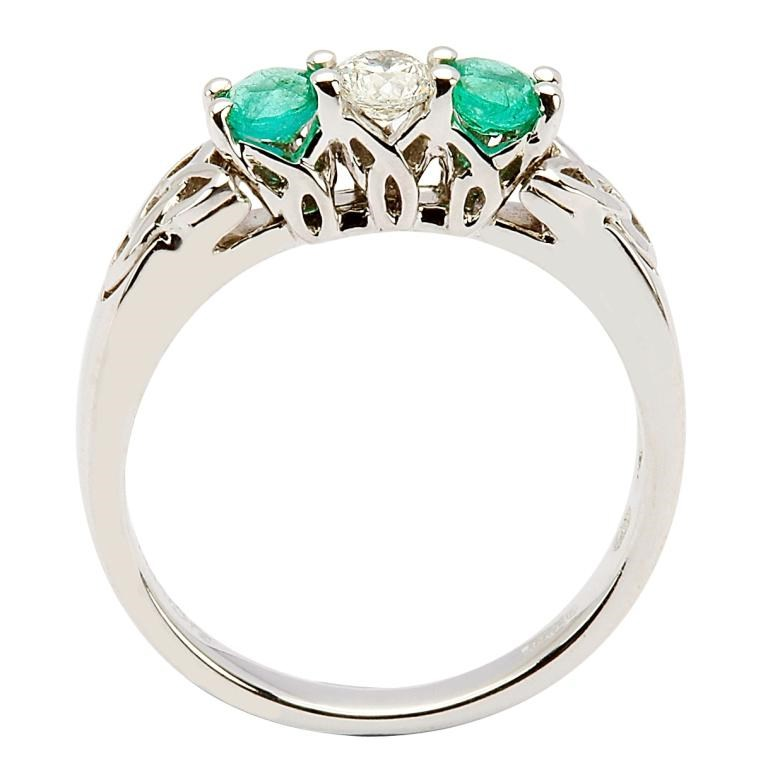 and emerald knot engagement ring celtic