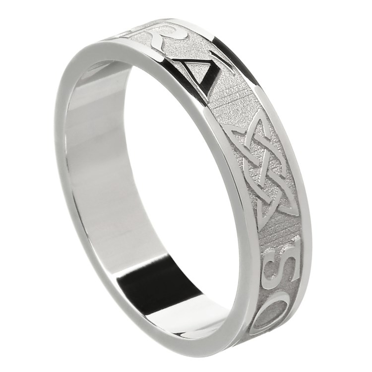 Wedding Rings Ireland Cheap: Love Forever White Gold Wedding Ring
