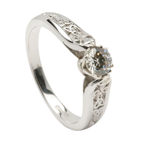 engagement white gold ring with shank