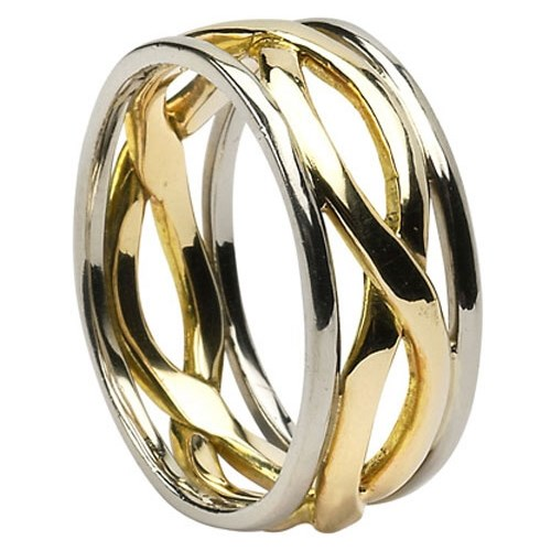 Infinity Weave Wedding Ring With Trim Celtic Wedding