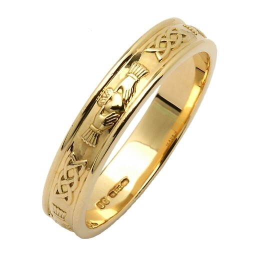 Narrow Gold Claddagh Ring
